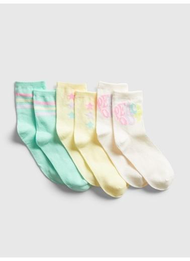 Gap 3'lü Çorap Renkli
